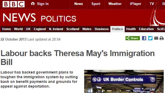 Labour backs Tories on immigration