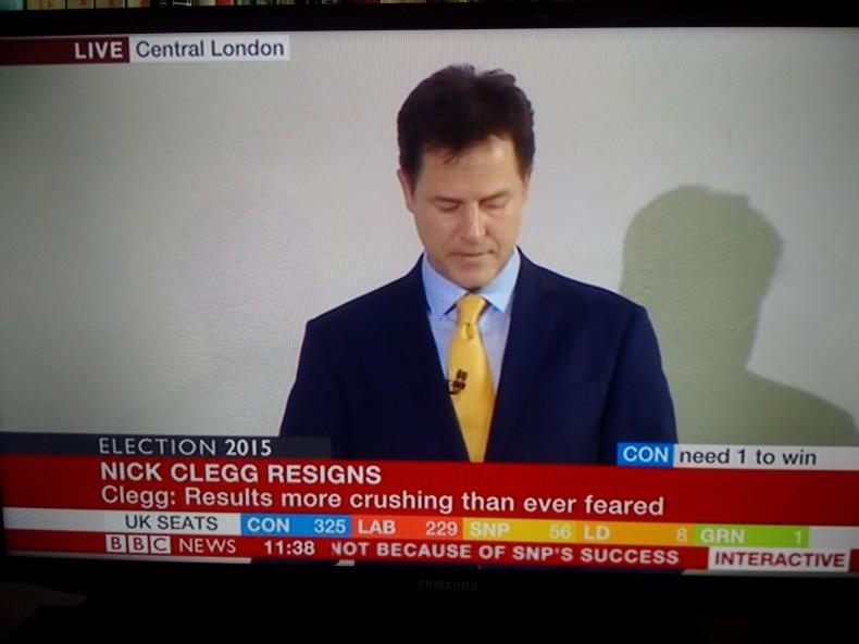 Nick Clegg resigns as Liberal Democrat leader