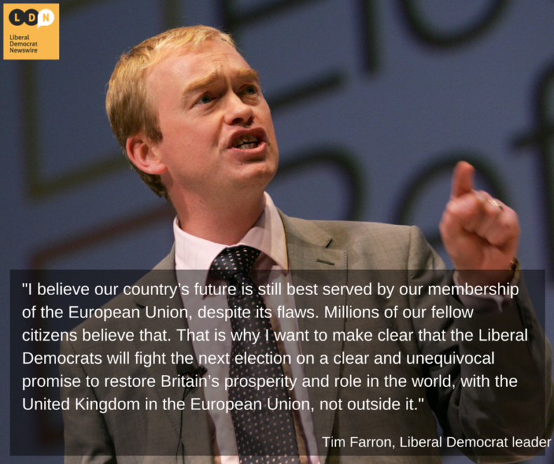 Tim Farron on European Union
