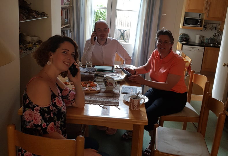 Camden Liberal Democrats making phone calls for Jane Dodds in Brecon and Radnorshire byelection
